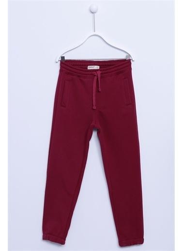 Silversun Kids Sweat Pantolon Örme Paçası Ve Beli Lastikli Cepli Eşofman Altı Erkek Çocuk Jp-313283 Kırmızı